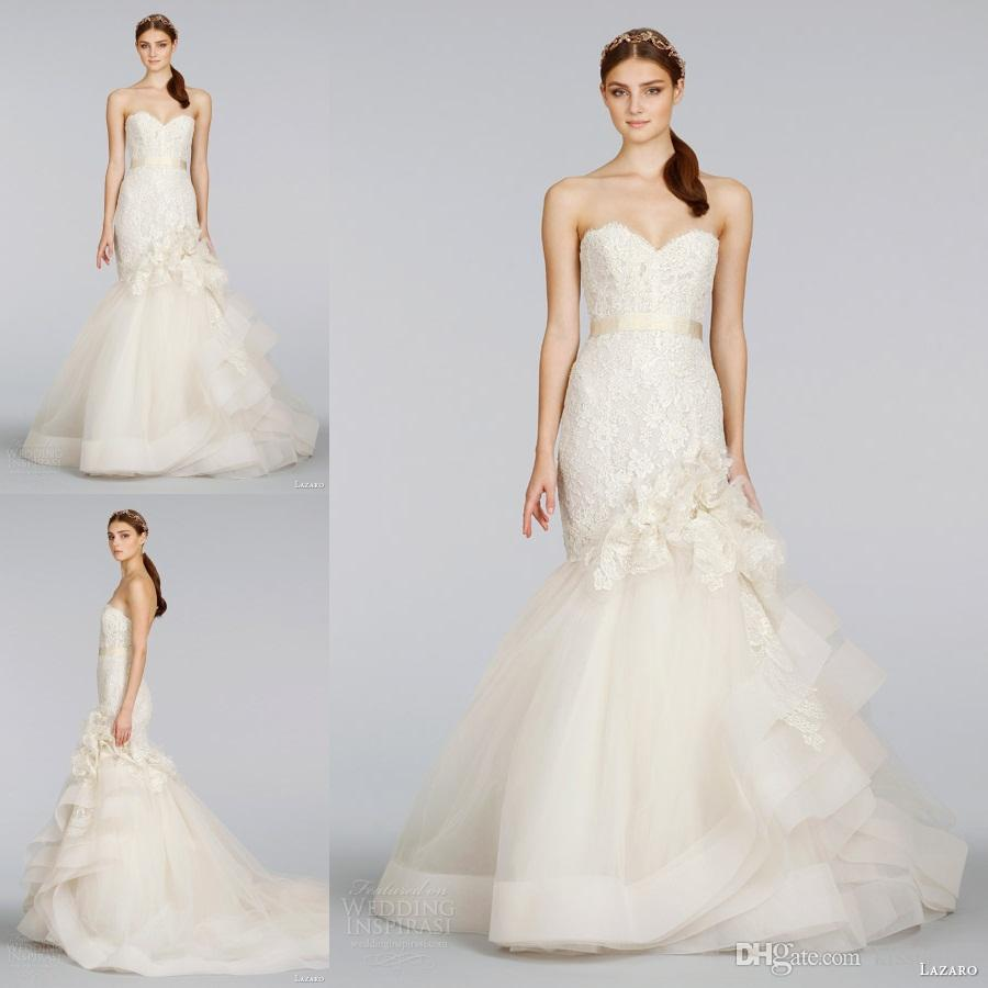 Mark Zunino 2015 Spring Mermaid Wedding Dresses Ivory Sweetheart ...