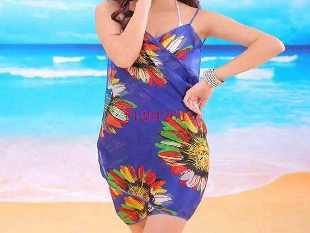 / chiffon libero delle donne avvolgono l'involucro di estate del copricostume dell'abbronzatura del vestito dell'asciugamano delle coperture di usura della spiaggia