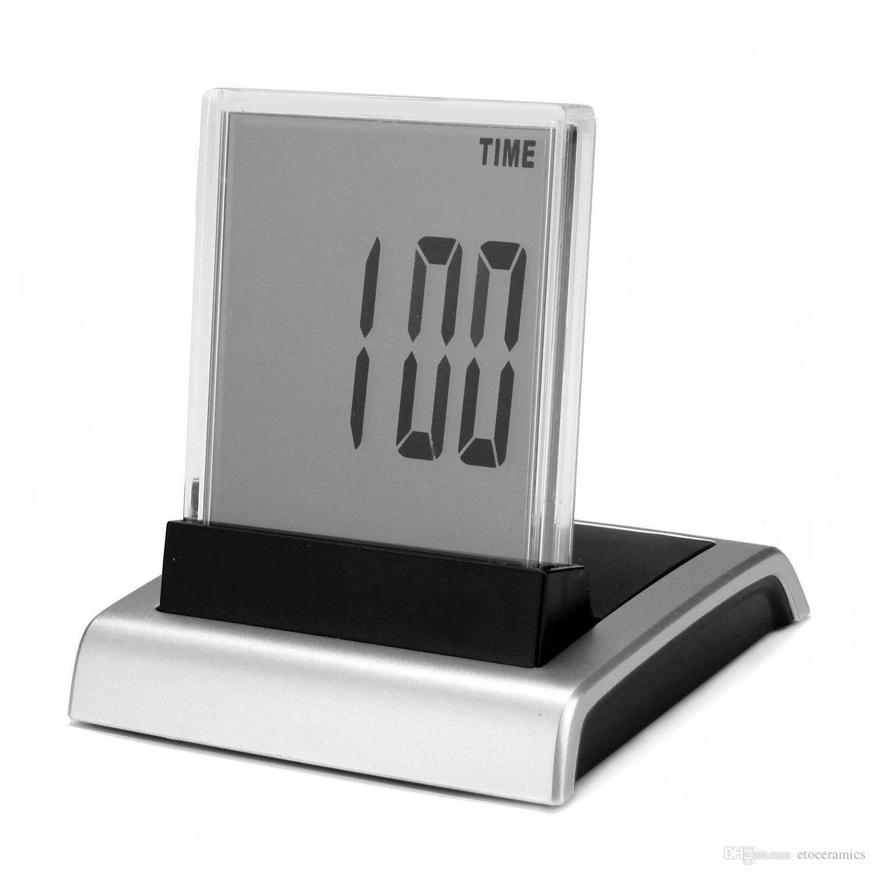 7-färgändring LED Digital LCD-väckarklocka Termometer