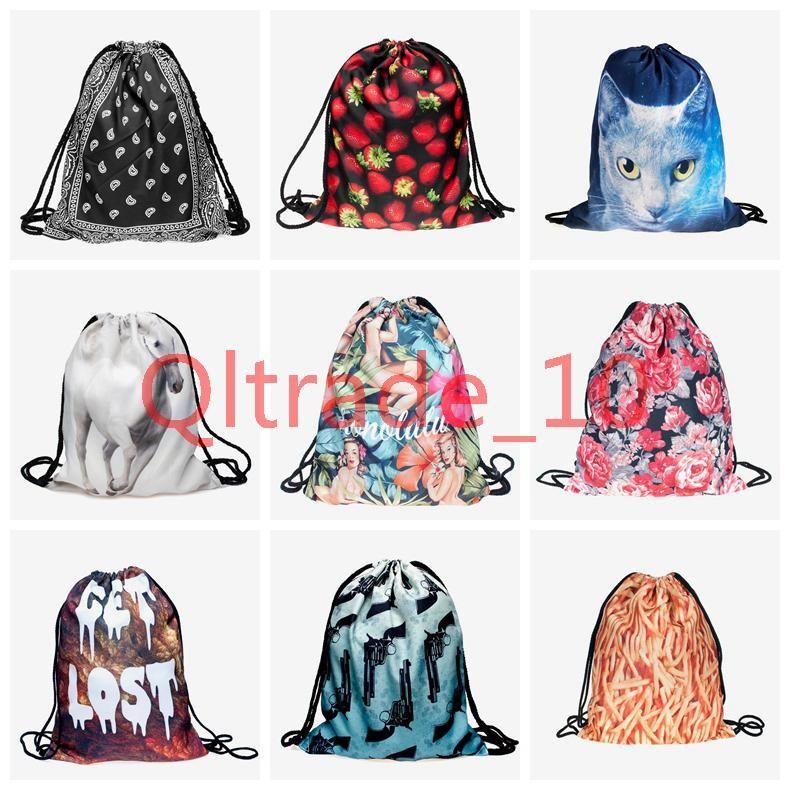 Ljjh937 230 Design Escolar Backpack Harajuku Drawstring Bag Galaxy ...