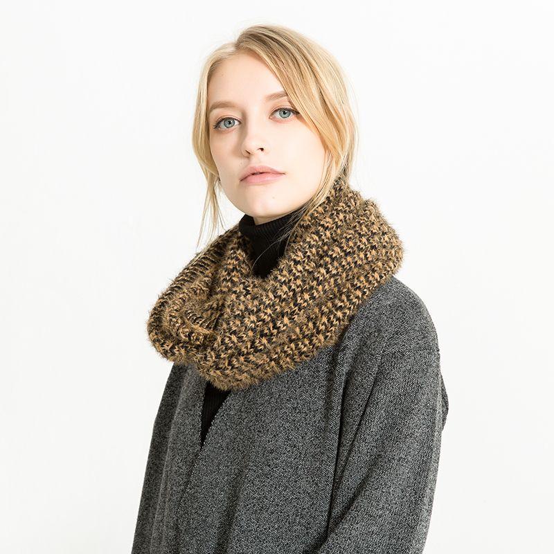 Großhandel Winter Wolle Schal Gestrickte Schals Kragen Hals Warme