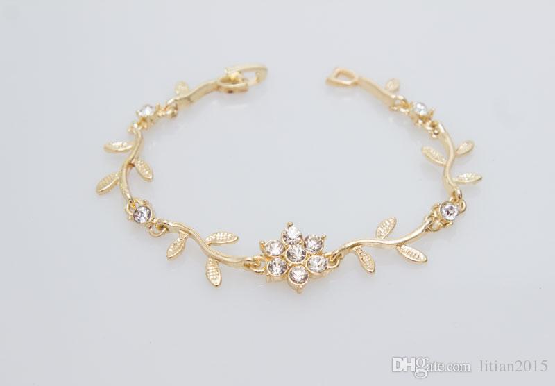Mode Kristall Halskette Armband Ring Ohrringe Sets Gold / Silber Überzogene Afrikanische Elegante Frauen Party Geschenke Modeschmuck Sets,
