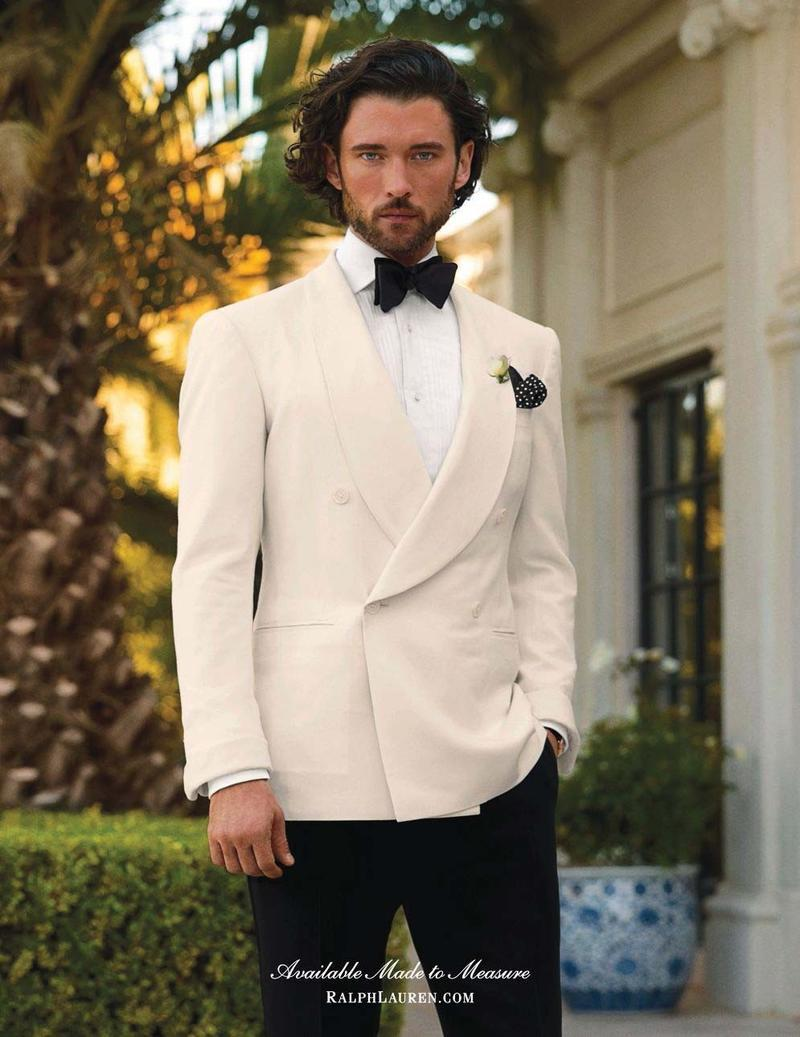 2015 Ivory Tuxedos For Men Shawl Lapel Mens Wedding Suits Formal ...