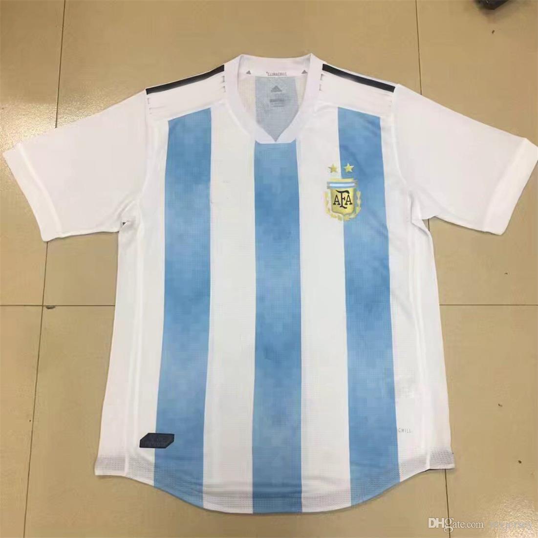 a14784d9b87 2019 Player Version 2018 Argentina Soccer Jerseys Size S XXXL MESSI Jersey World  Cup Aguero Di Maria MARADONA HIGUAIN Maillot De Futol Camisetas From ...