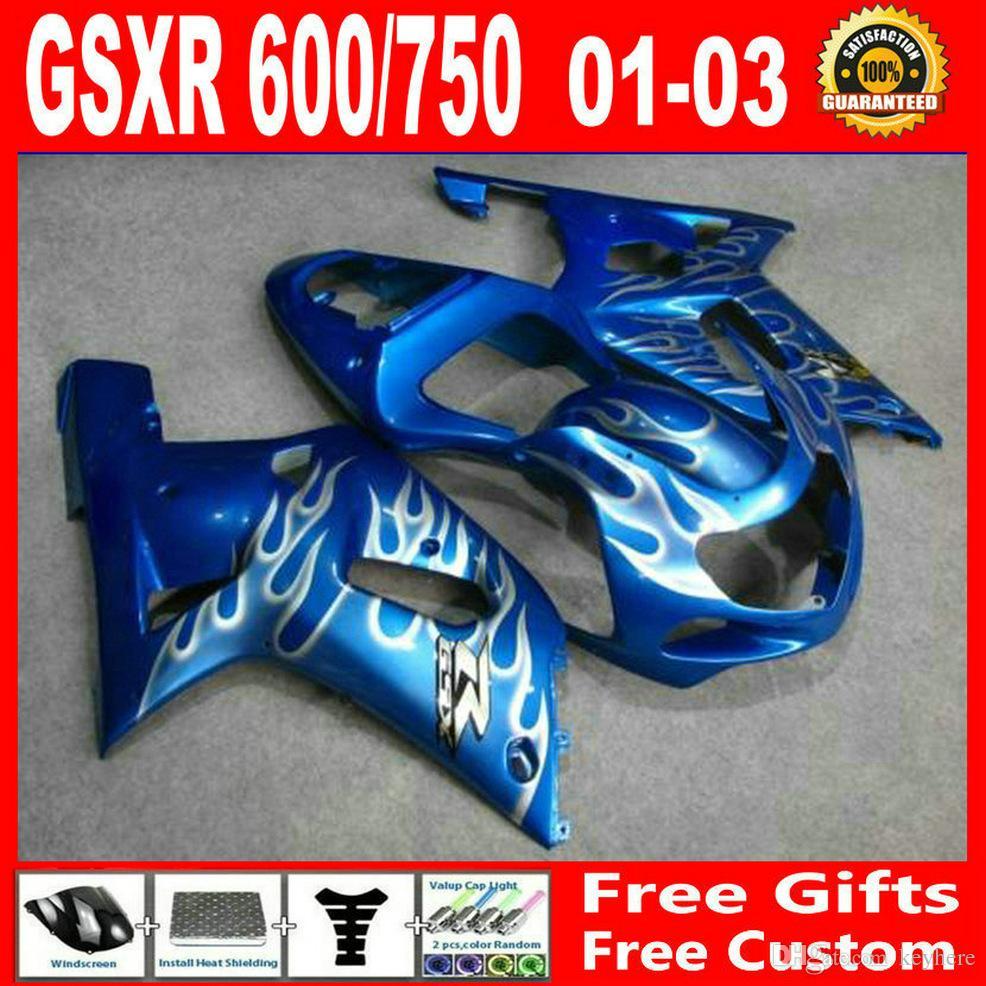 Custom bodykits for Suzuki GSXR 600 750 00 01 02 03 Fairing kit GSXR600  GSXR750 2001 2002 2003 fairings kits decals