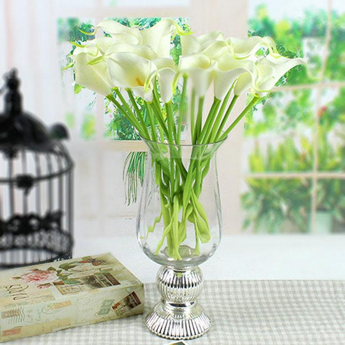 Best Mini Size Pu Calla Lily Real Touch Flower Artificial Flowers For  Wedding Decoration Party Flower For Gift/Home Decor 2015 Under $23.11 |  Dhgate.Com