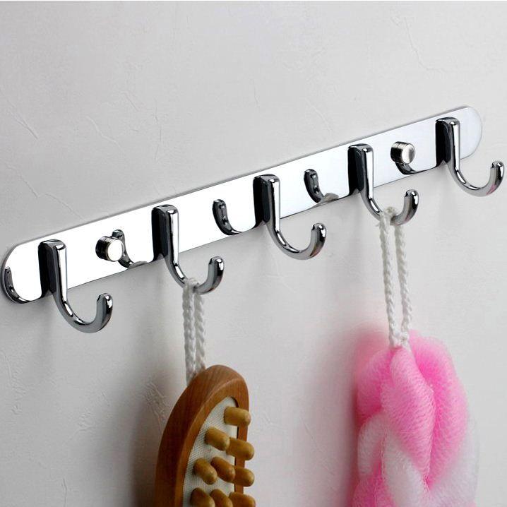 2018 Stainless Steel Kitchen Towel Hook Bathroom Hook Rack Rag Mop