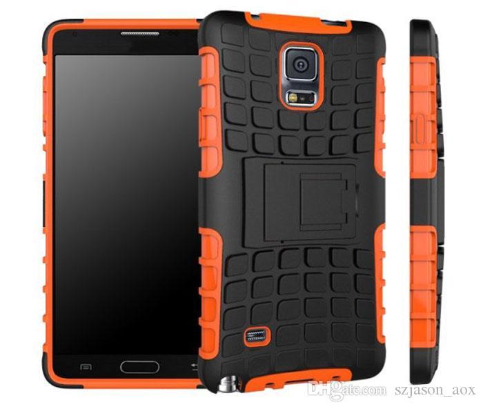 2 W 1 Hybrydowy Robot Stand Kickstand Holster Armor Case TPU Silikon Guma Miękka Robot Case dla Samsung Galaxy S4 S5 Mini Note4