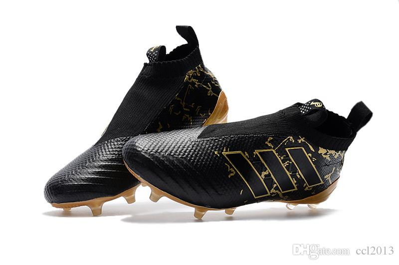 e9734979e 2019 Messi Black Gold Soccer Shoes ACE 17.1 Purecontrol Soccer Boots Pure  Control Messi Soccer Cleats 100% Original Quality Football Shoes From  Ccl2013