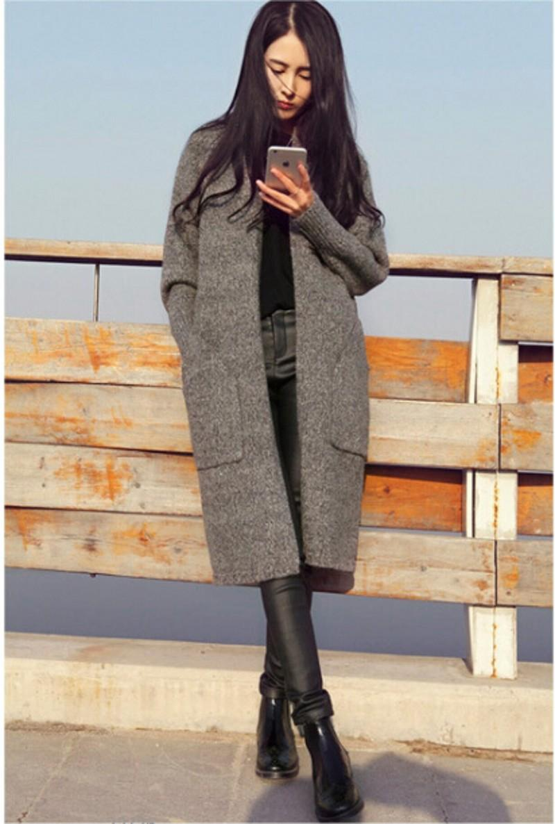 2018 Latest Fall Winter Long Sweaters Coat 2015 Fashion Long ...