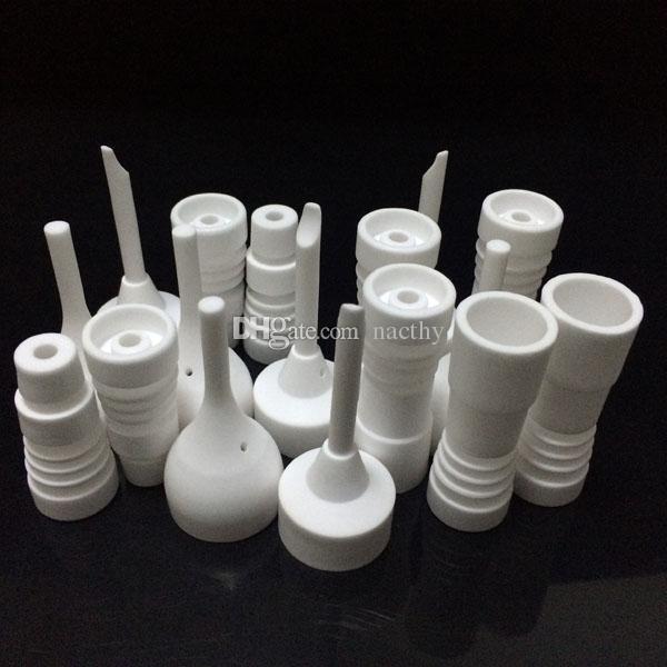 Chiodi in ceramica senza chiodi da 14 mm e 18 mm Chiodi in ceramica con chiusure maschio o femmina con tappo in carb VS Chiodo al quarzo in titanio accessori da fumo in vetro