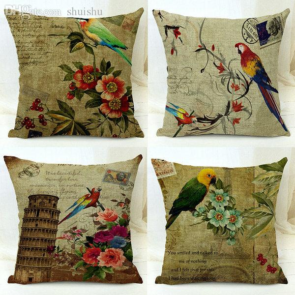 Wholesale Top Selling For Vintage Cotton Linen Pillow Case Waist Throw  Cover Home 17 Patterns Drop Shipping Hotdog Pillow Cheap Pillowcases From  Shuishu, ...