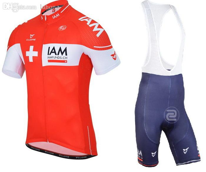 Wholesale 2015 IAM PRO TEAM SWISS RED Ropa Ciclismo Short Sleeve Cycling  Jersey Bike Bicycle Wear + BIB Shorts Size XS 4XL With GEL Pad Giordana  Cycle ... 46c95ff48