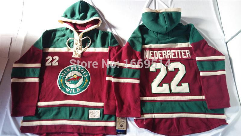 Cheap Minnesota Wild Hockey Hoodie Jersey 22 Nino Niederreiter Ice Hockey  Hoodies Hooded Sweatshirt 7f272e62d2c
