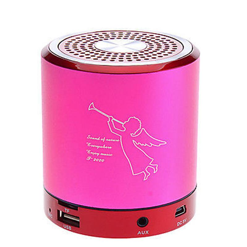 Angel T2020A Bluetooth Mini Speaker Metal Portable Speakers Wireless Stereo Hifi Sound Box U-Disk TF Slot MP3 Player for iPhone 6 Plus Note5