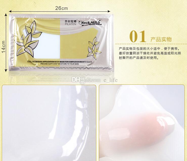 Retail Pilaten echte Hals-Maske hohe Qualität Hals Membran Crystal Collagen Der Hals Whitening schöne Frau Kosmetik DHL frei