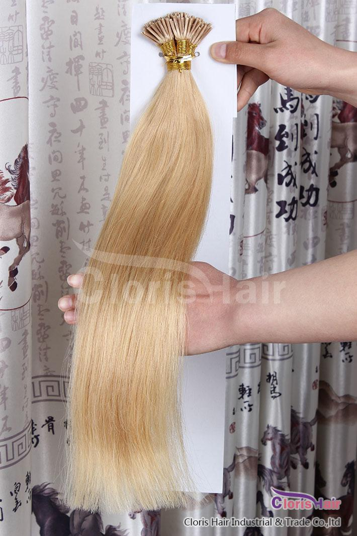 Great Lengths 100 Strands #24 Natural Blonde Double Drawn Silky Straight Fusion Keratin Prebonded Stick I Tip Remy Human Hair Extensions 50g