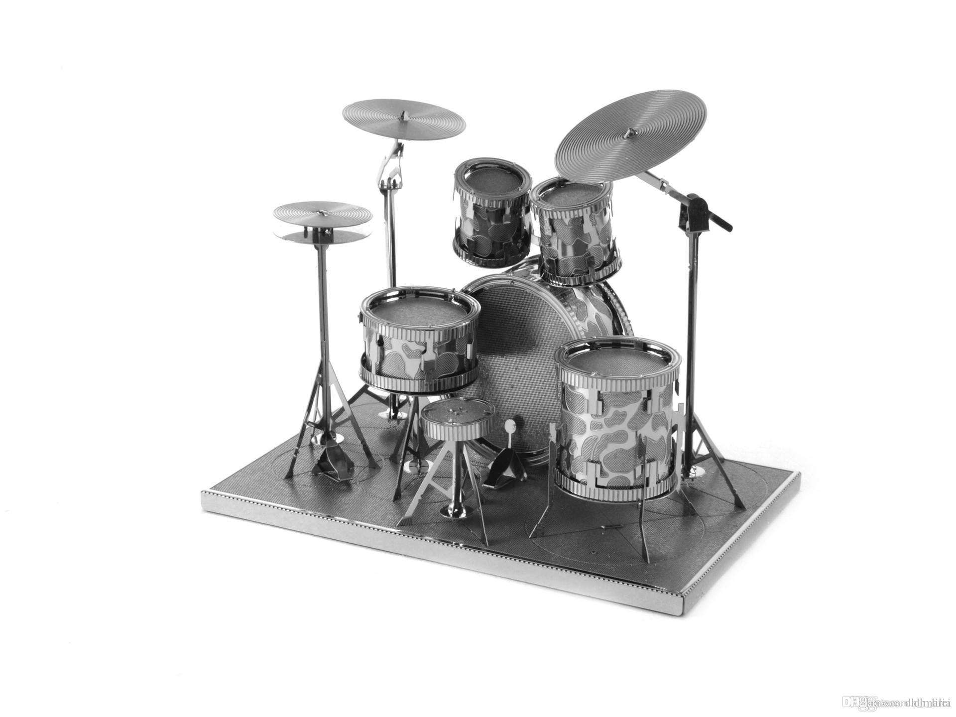 Best Drum Set 3d Puzzle Mental Alloy Handmade For Adults Diy Toys