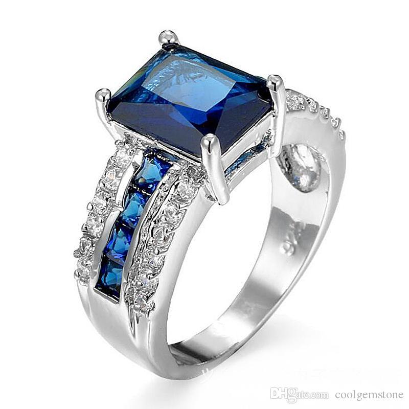 Luckyshine Modeschmuck Frauen Männer Mehrere Farbe Ring Kunzit Onyx Morganit Edelsteine 12 Stücke 925 Sterling Silber Hochzeit Blume Ring Großhandel