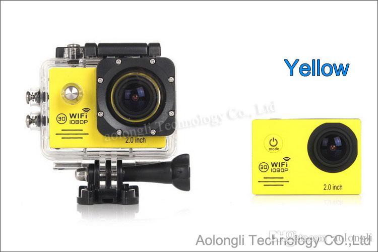 SJ7000 WiFi Action Camera Etanche + Chargeur de batterie + Support + Chargeur de voiture 1080P Full HD Caméra de sport Plongée Vidéo Casque Caméscope Voiture DVR
