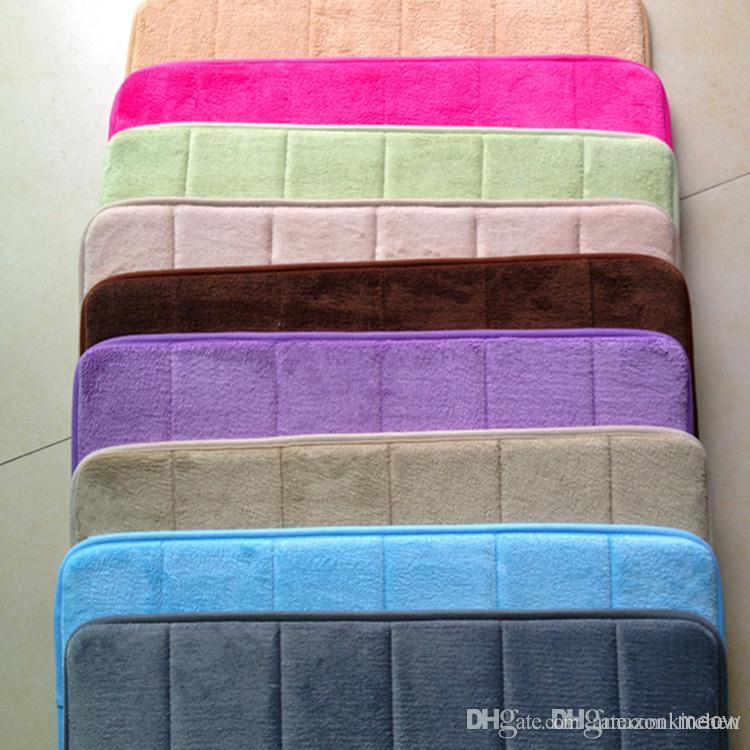 Memory Foam Doormat Anti Slip Rug Memo Floor Mat Bathroom Doormats ...