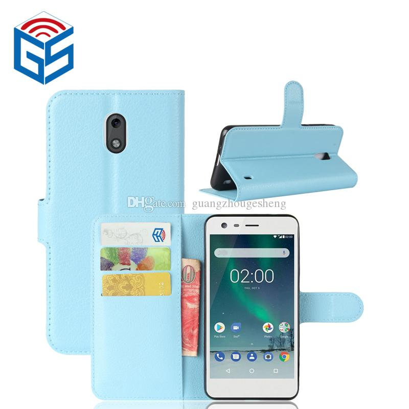 premium selection 45cf8 b16b3 For Nokia 2 / 1 For Nokia 7 / 7 plus Wallet Case Wallet Leather Flip Cover  With Card Holder Low Price