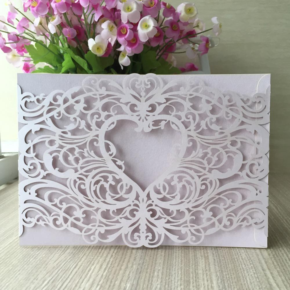Wholesale 12/Pcs Laser Cut Love Heart Shape Hot Sale Wedding ...