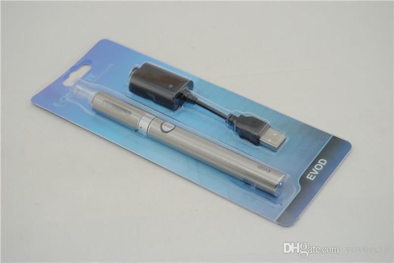 Top Quality Evod MT3 Blister Kit Electronic Cigarette MT3 atomizer 650mAh 900mAh 1100mAh Evod Logo Battery E Cigarettes e cig ecig