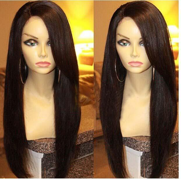 Unverarbeitete malaysische seidige gerade U Teil Perücken reines Haar Linke Teil Upart Perücke Menschenhaar Perücken für schwarze Frauen auf Lager