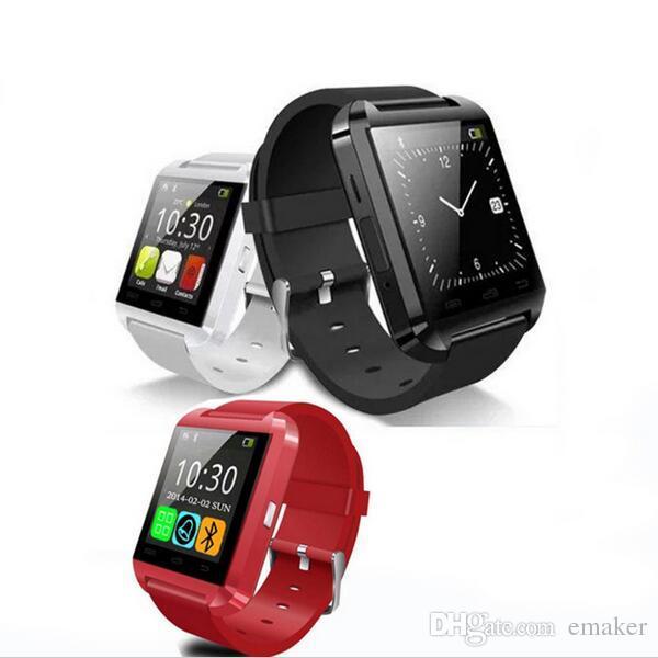 Smartwatch U8 U Montre Smart Watch Montres pour iPhone 4 4S 5 5S Samsung S4 S5 Note 2 Note 3 HTC Téléphone Android Smartphone