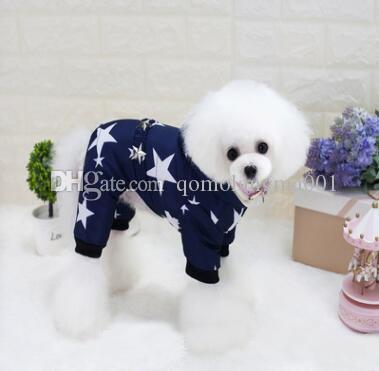 Kalın Pet Köpek Kış Giysileri Kış Su Geçirmez Yıldız Baskılı Chihuahua Için Köpek Ceket Coat Moda Pet Kostüm Giyim Sıcak Ceket En Kaliteli