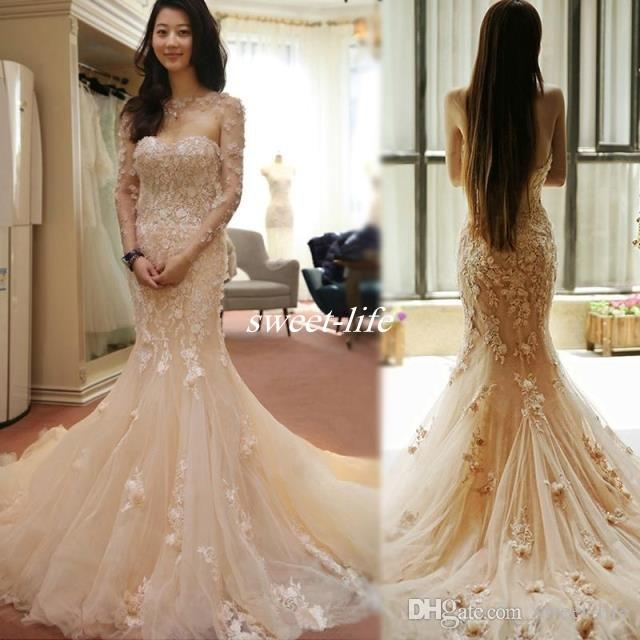 Beautiful blush tulle mermaid wedding dresses with wrap 3d flowers beautiful blush tulle mermaid wedding dresses with wrap 3d flowers vintage lace strapless cathedral train backless 2016 spring bridal gowns black and white mightylinksfo