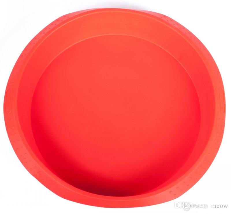 Giant Silicone Cake Baksel Pan Pizza Pan NonStick Dia 11 Inch 11
