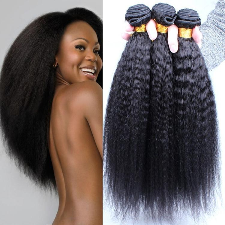 7a Grade Unprocessed Virgin Human Hair Extensions Coarse Yaki Kinky