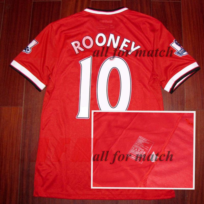 4526bd8b5210 2019 RUGBY EPL 14 15 MU Match Worn Player Issue Home Shirt Jersey Short  Sleeves Rooney Di Maria Mata Football Rugby Custom Patches Sponsor From ...