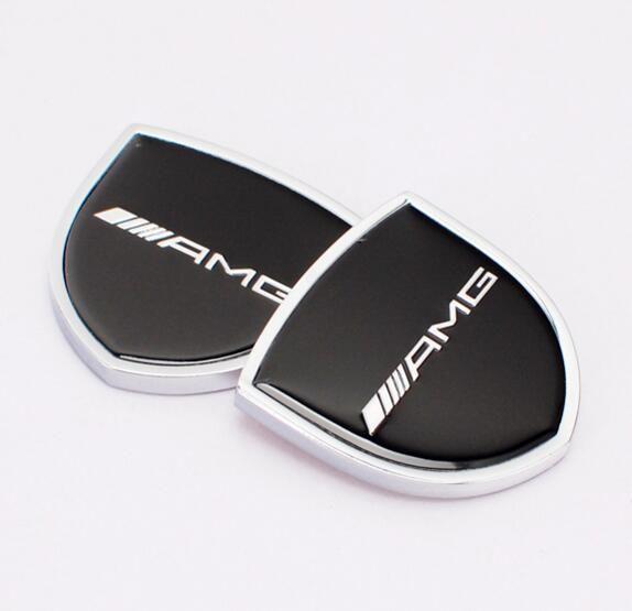 39x39mm Car Styling ///AMG Zinc Alloy Car Side Sticker Badge Emblem car sticker Mark High Qulity fit for Mercedes