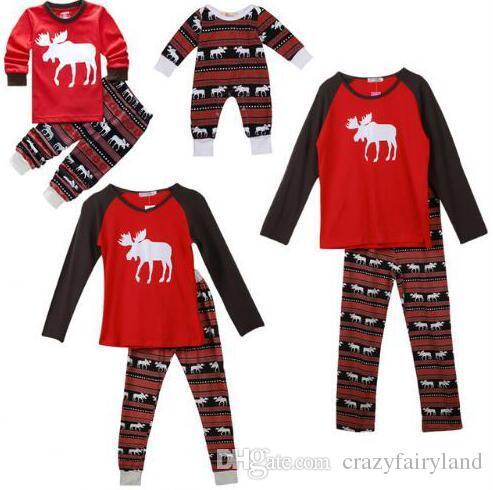 Moose Christmas Pajamas Family Matching Clothes Christmas Pajamas Clothing  Sets Mother And Daughter Father Son Matching Xmas Homewears 911 Christmas  Outfits ... - Moose Christmas Pajamas Family Matching Clothes Christmas Pajamas