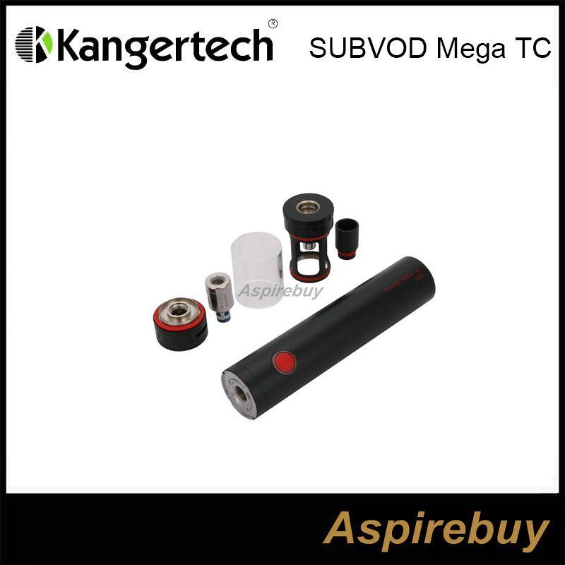 100% Original Kanger SUBVOD Mega TC Starter Kit 2300mah SUBVOD Temperature Control Battery 4.0ml Toptank Mini Atomizer TC/VW Modes DHL Free