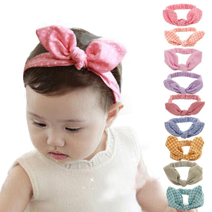 Baby Girl Elastic Hair Hoops Headbands Baby Bunny Ears Twist Knotted  Headbands For Girls Polka Dot Stripe Rabbit Children Hair Accessories  Pretty Hair ... 2cfa5ad472e
