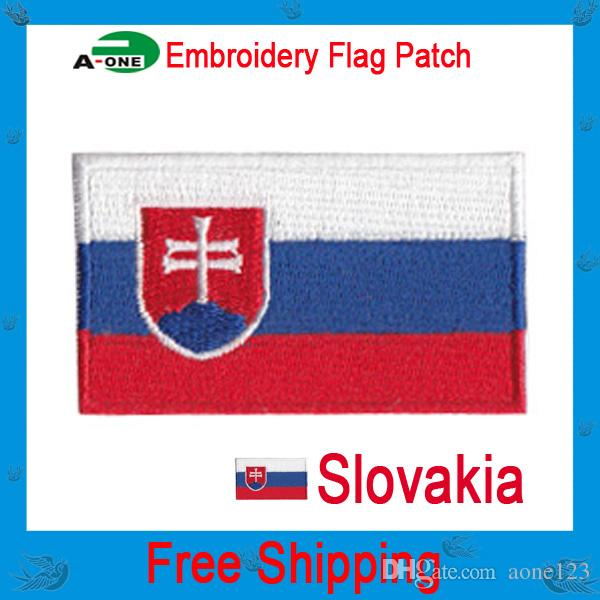 slovenia flag patch Cheap Wholesale High quality Flag patch Clothing accessories Embroidery Applique Decoration Accessories good quality