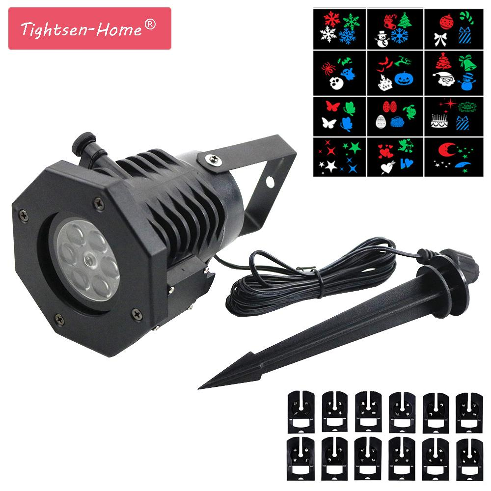 Wholesale Holiday Laser Snowflake Projector 12 Patterns Christmas ...