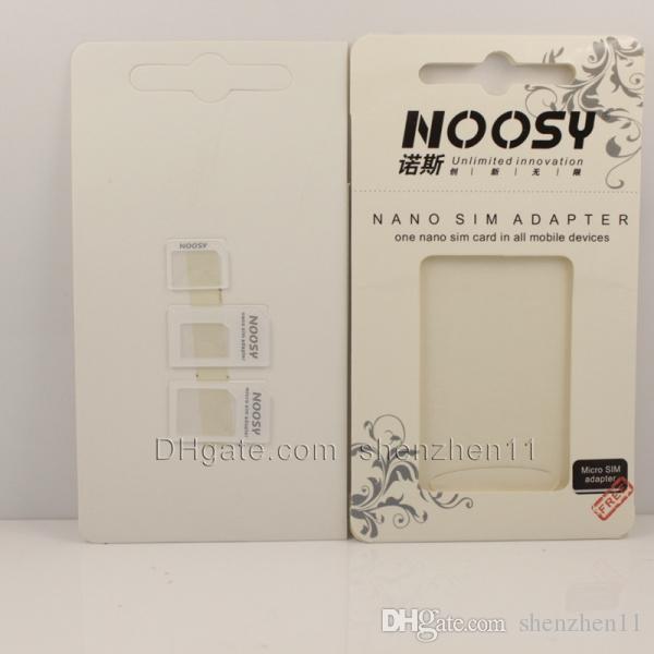 noosy adaptateur de carte sim nano sim adaptateur titulaire du plateau plateau de carte SIM pour iphone 5 4s 4 micro plateau de carte SIM pour la plupart des téléphones mobiles OTH022