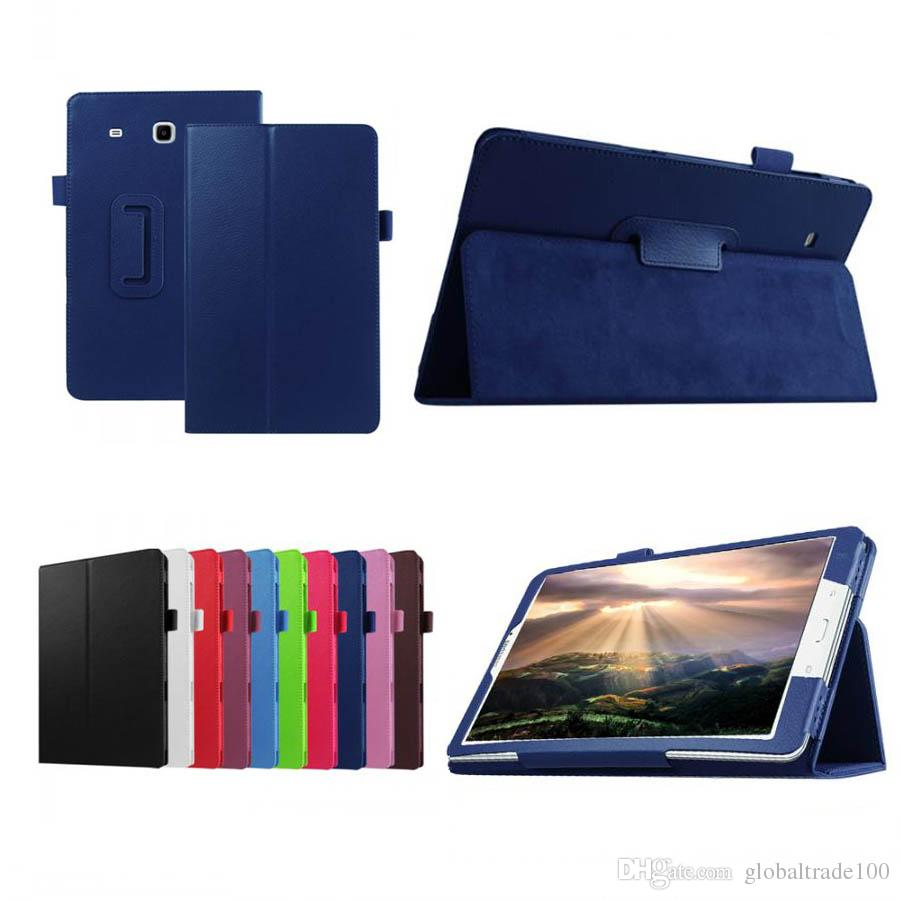 pretty nice 3703e 2479e For Samsung Galaxy Tab E 9.6 Case T560 T561 SM-T561 PU Leather Tablet Pad  PC Protective Case Flip Cover Shell