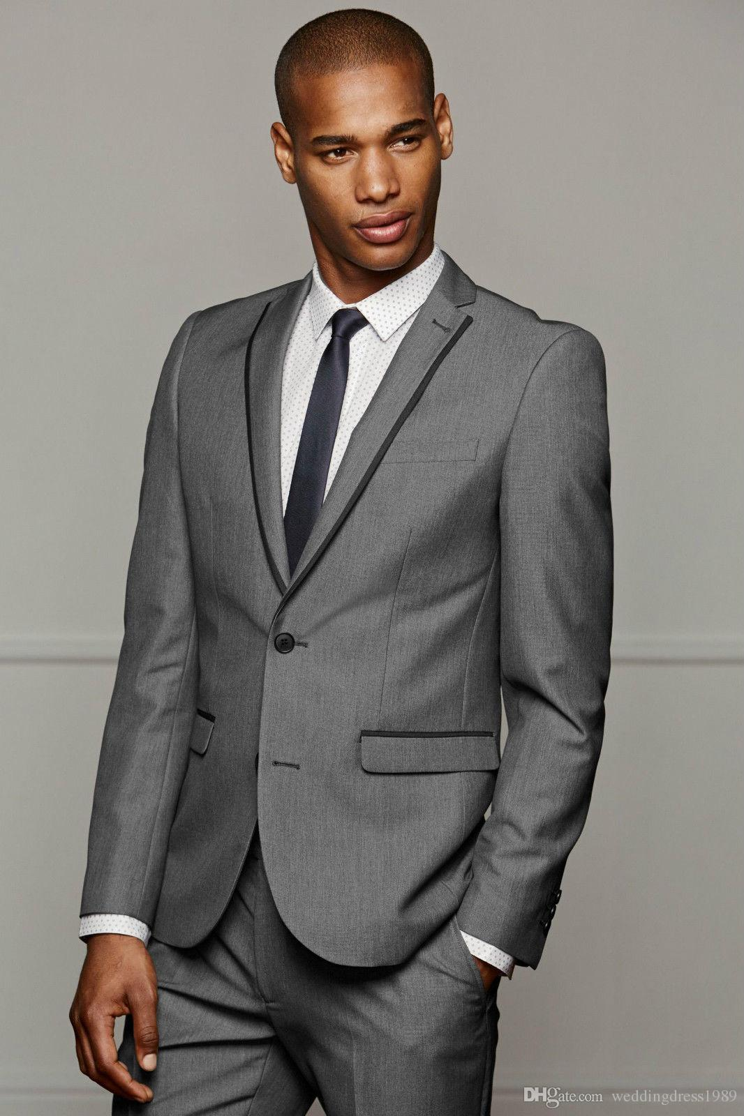 Modest Lapel Business Men Suits for Wedding Groom Tuxedos Best Man Bridegroom Wedding Suits Groomsmen Suits Jacket+Pants+Vest+Tie