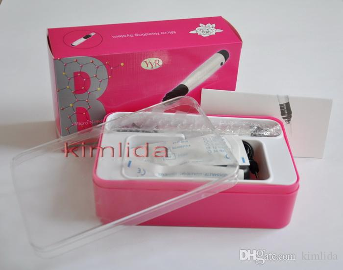 wireless Rechargeable Dermapen derma roller Derma Pen Electric Derma Stamp with 12 pin Needle Cartridges YYR aluminum dr.pen