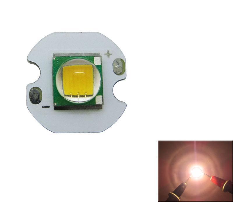 Cree XM-L T6 Светодиодная микросхема Светло-белый 6500K / Теплый белый 3200K 12MM / 14MM Белый цвет Печатная плата 100шт / лот