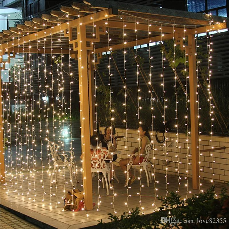 3 Mt x 3 Mt 300 LED Indoor Outdoor Party Weihnachten Weihnachten String Fairy Hochzeit Bühnenvorhang Licht 8 Modi Blinkende LED String