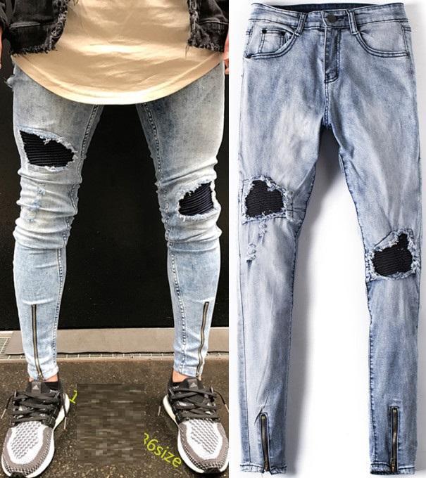 4bebae0a92a47f 2019 Eur US Style Jeans Slim Fit Mens Designer Skinny Jeans Men Robin Basic  Long Jeans Hip Hop Wash Destroyed Brand Denim Available From  Vintageclothing, ...
