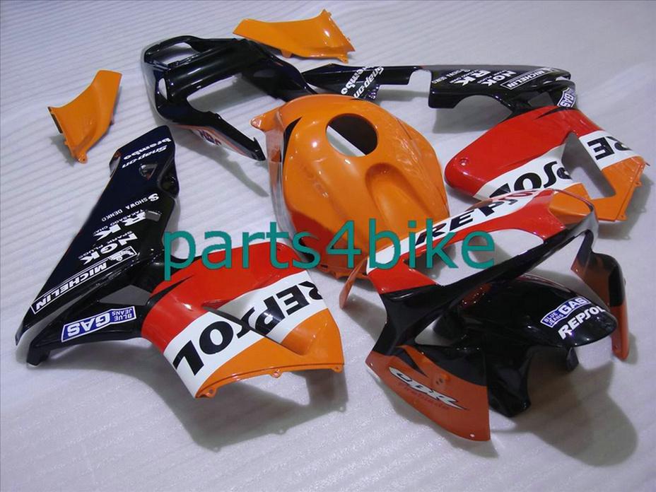 Parti del corpo arancione di marca Repsol carene Honda CBR600RR 2003 2006 CBR 600RR 03 04 carenatura CBR 600 RR CVYD