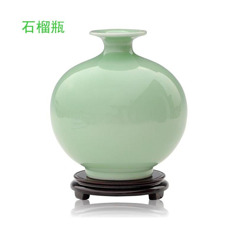 Shiliuping Light Green Pigmented Table Vase Chinese Ceramic